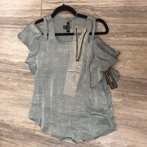 NWT A.Byer Moss color with choker included size S